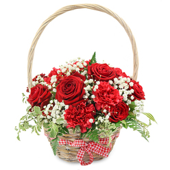 FLOWERS OF LOVE BASKET